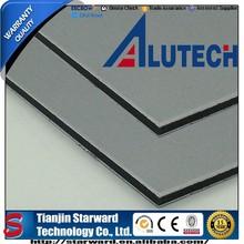 PE coated grey silver 3mm 0.18mm Premium sheet materials