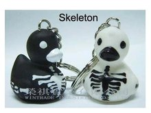 Halloween Skeleton Duck Keychain