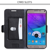 2015 Newest Design Excellent Quality PU Leather Phone Case For Samsung Note 5