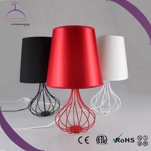 Hot sale living room descration fabric shade modern table lamp