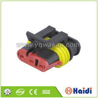 amp different way male female waterproof 3-pole power connector 282087-1