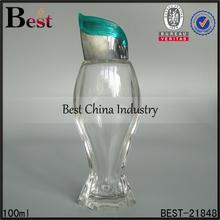 100 ml bleu cap rechargeable chine corps forme bouteille de parfum