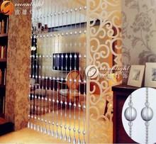 Cortinas de cuentas para puertas, cristal cordón de cortina de la secuencia OCX019