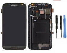 For Samsung Galaxy Note 2 N7100-LCD Display+Touch Screen + Frame Assembly -Black