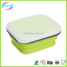 FDA & LFGB take away collapsible silicone kids lunch box
