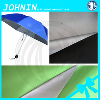 Hot sale poly taffeta 190T fabric waterproof silver coating for umbrella tent from China supplier