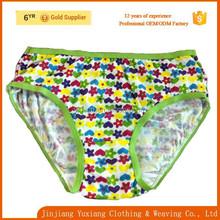 china factory free sample 100%cotton little girls underwear
