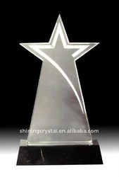 unique crystal five-pointed star award