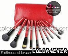 Professional 10 Pcs Black Makeup Brushes Set Brand Cosmetic Kits lighted makeup case