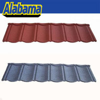 Diversified Colors metal blue glazed roof tile, stone coated metal roofing