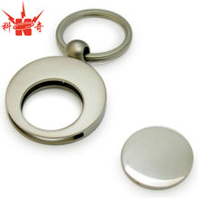 Round Silver Top Grade Coin Holder With Blank Coin
