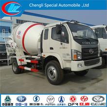Chinese famous brand Foton 4x2 concrete mixer concrete mixer machine price low