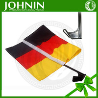 NO MOQ OEM customized polyester digital silk screen printing strong plastic pole germany car side flag