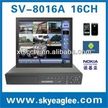 Sv-8016b h. 264 de alta eficiencia de compresión de vídeo dvr