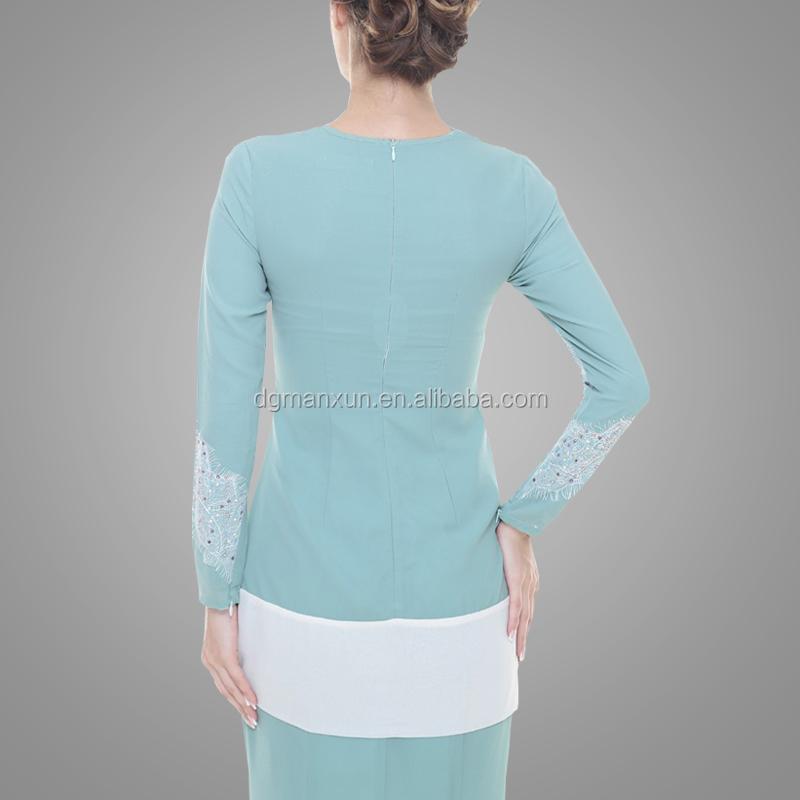 New Design Baju Kurung Kebaya Pink Elegant High Quality Baju Kurung Peplum Malaysia Dubai Clothing Abaya Baju For Women (7).jpg