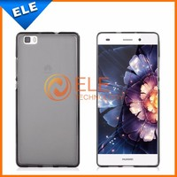 Huawei P8 Lite Case,MOSKII Slim Gel TPU Ultra Thin Crystal Soft Back Clear Case For Huawei Ascend P8 Lite Skin 2 Pure Color