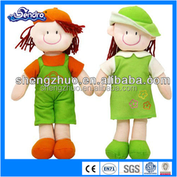 China peluches a couple of boy and girl standing doll toy