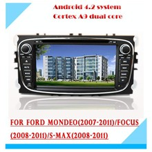 7 inch android 4.2/4.4 bluetooth GPS navigation 3g/wifi mp4 radio car dvd for ford Mondeo FOCUS S-MAX 2007/2008/2009/2010/2011