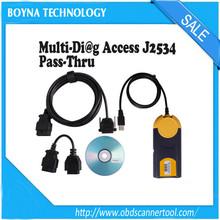[Wholesale price] New released 2014.01 version Multi-Diag Multi Diag Access J2534 Pass-thru obd2 scanner tool Multi-Diag