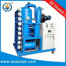 High quality and efficiency vacuum transformer oil purification,oil purifier plant