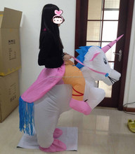 Hot sale high quality Attractive amusement waterproof adult and kids size inflatable unicorn costumes