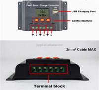 Manual PWM Solar Charge Controller 25amp 12V 24V 48V Solar Battery Charge Controller