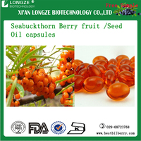 Hippophae rhamnoides Powder Seabuckthorn Berry fruit /Seed Oil capsules 5:1, 10:1, 20:1