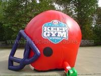 Custmized sport inflatable football helmet tunnel for kids C5005