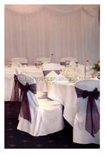 Crystal Organza Bows Banquet Chair Sashes