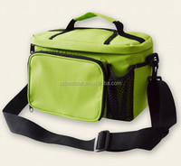 Wholesale green adjustable cooler tote bag