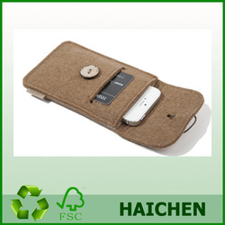 hot selling personal soft fashion felt mobile phone cover/case
