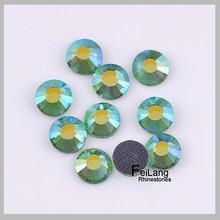 hot sell iron on flatback hotfix many colors OF DMC crystal rhinestone adorn accessories