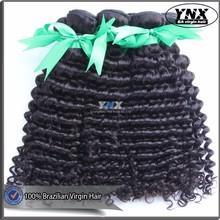 Alibaba Express 100% human unprocessed 6A Virgin Hair double drawn,Wholesale natural black Virgin Brazilian Curly Hair Extension