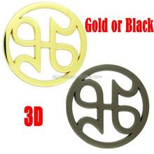 Mi l--K Handbags Metal Logo Tag,Custom Handbag Metal Tags Handbag Part,Round Engraved Logo Silver Bag Tag Metal Golf