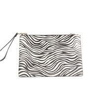 zebra-patterned clutch bags real leather pouch