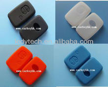New: Toyota 3 button silicone car key bag cover in black white red blue colors