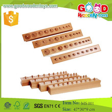 Good Wooden Toys Beechwood Wholesale Knobbed Cylinders Montessori Toys