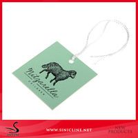 factory paper hang tag with nylon cord/string/rope