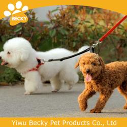 High quality Nylon Pet collar leash dog leash with two hooks