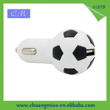 Football Design mobile phone car usb charger adapter 5V1.5A