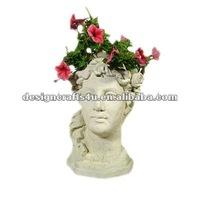 Decorative Clay Lady Face Wholesale Head Flower Pots