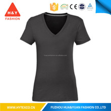 China supplier wholesale factory price high quality t shirt cotton v neck t-shirt plain--7 years alibaba experience