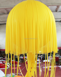 Party decorations with inflatable jellyfish