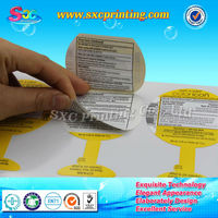 Customized sticker label printing factory, Self-adhesive sticker label specialist