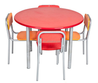 Modern nursery school furniture kids round study table and chairs SF-77K1