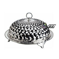 Unique Design Stainless Steel Decorative Dinner Plate with Cover(Dome and Plate)
