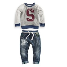 Autumn baby clothes fashion long sleeve boys clothing casual sets(M20648A)