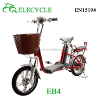 ELECYCLE nice cheap electric bicycle with pedals in china