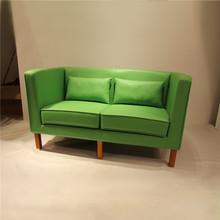 New design fashion full genuine leather kubus ocean loveseat sofa