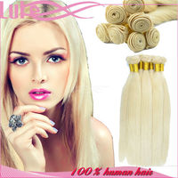 Tangle Free Great Customer Service 8A Grade 100% Virgin Russian Straight Silk Dark Golden Blonde Hair Color